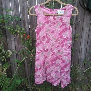 Vintage Liberty by Ici Leaf Print Dress Romper